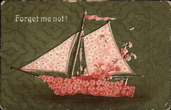 Forget me not! (Pink floral boat)