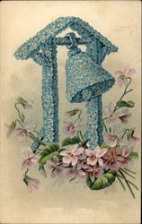 Blue flower bell Postcard