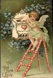 Cherub mailing a letter