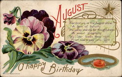 Happy August Birthday