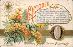 October--Wishing You a Happy Birthday