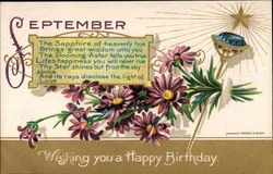 September, Wishing you a Happy Birthday