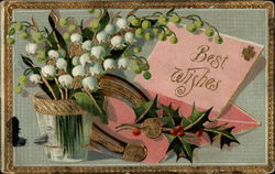 Best Wishes (Holly and Snowdrops)