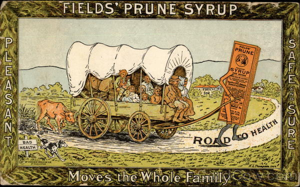 Fields' Prune Syrup Advertising
