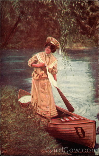 Pretty Lady Canoeing Canoes & Rowboats