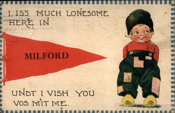 I Iss Much Lonesome here in Milford Illinois Banners & Pennants
