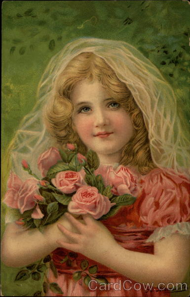 Girl with Roses With Children