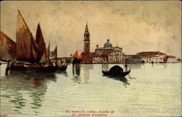 St. Marco's Canal, Island of St. Geprge Maggiore Canoes & Rowboats