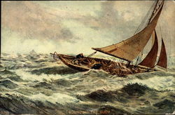 Rounding the Buoy (Boat on Stormy Seas)