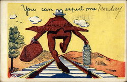 You can expect me Postcard