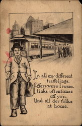In All My Different Travelings Postcard