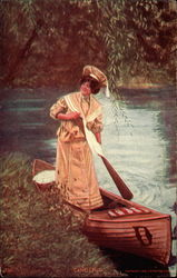 Pretty Lady Canoeing