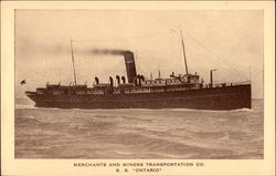 Merchants and Miners Transportation Co. S.S. Ontario