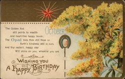 Wishing You A Happy Birthday - October/Opal
