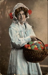 Maiden with a Basket of Colored Eggs