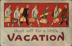 Dust Off for a Little Vacation Postcard