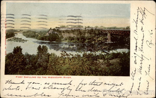Fort Snelling on the Mississippi River St. Paul Minnesota