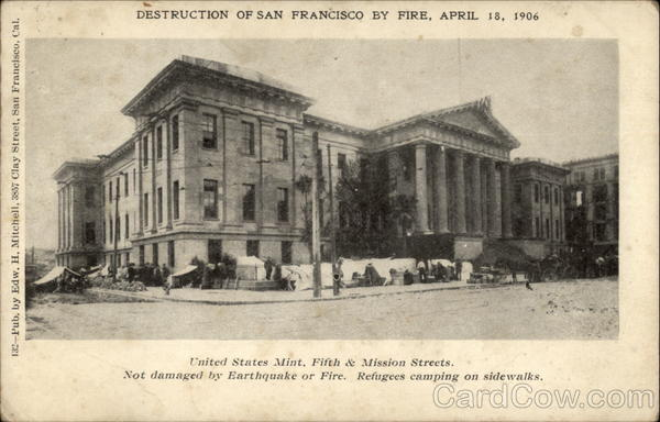 Destruction of San Francisco by Fire, April 18, 1906 California