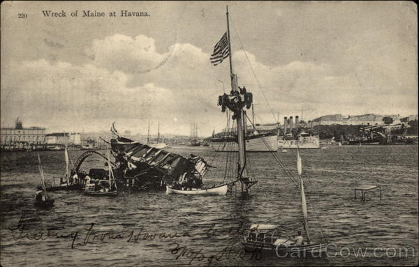 Wreck of Maine at Havana Cuba