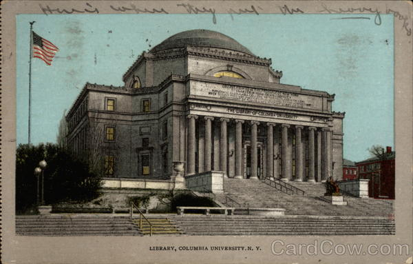 Library, Columbia University, N. Y New York City