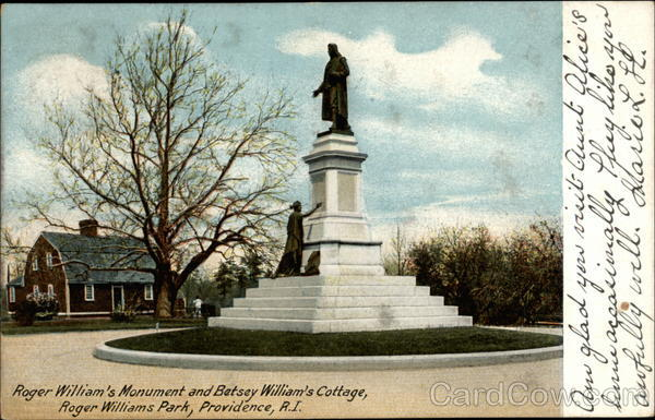 Roger Williams Monument and Betsey Williams' Cottage Providence Rhode Island