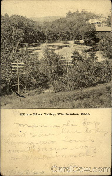 Millers River Valley Winchendon Massachusetts