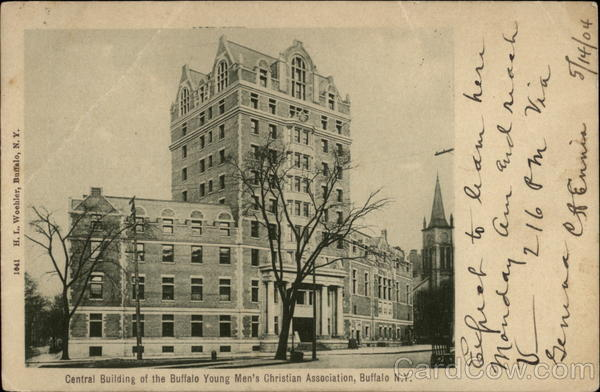 Cemtral Building of the Buffalo Young Men's Christian Association New York
