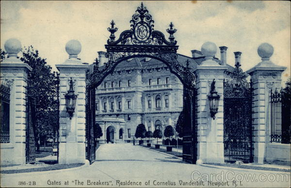 Gates at The Breakers, Residence of Cornelius Vanderbilt Newport Rhode Island