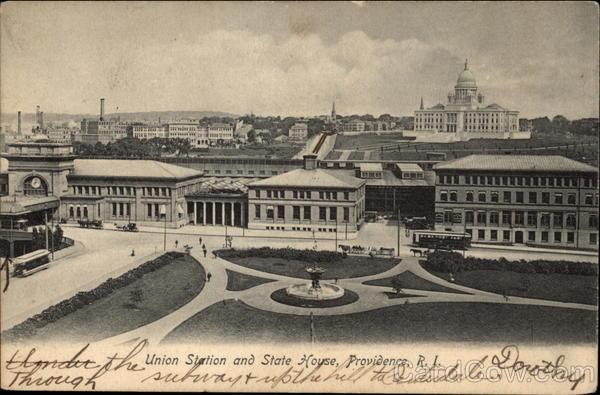Union Station and State House, Providence, R.I Rhode Island