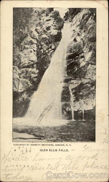 Glen Ellis Falls, Pinkham Notch Jackson New Hampshire