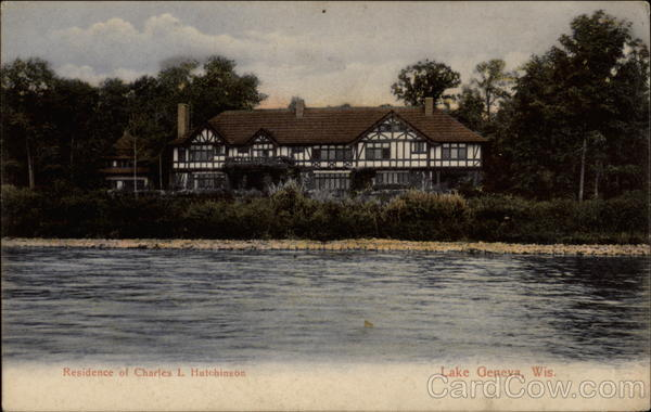 Residence of Charles L Hutchinson Lake Geneva Wisconsin