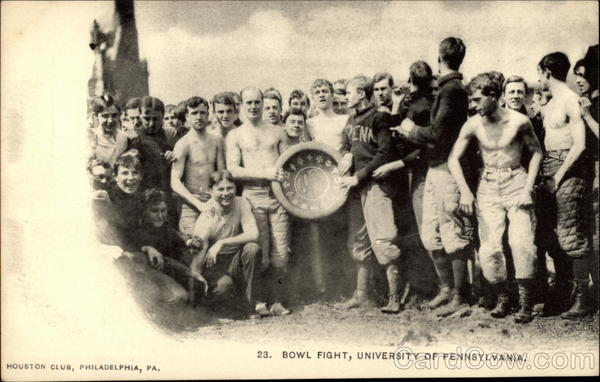 23. Bowl Fight, University of Pennsylvania Philadelphia