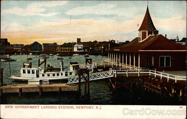 New Government Landing Station, Newport, R. I Rhode Island