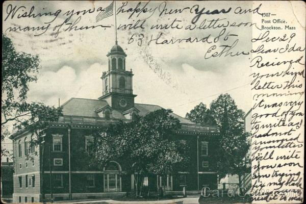 1307 - Post Office. Brockton, Mass Massachusetts