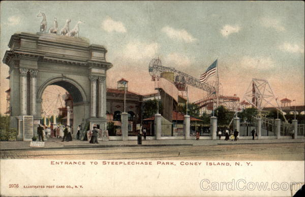 Entrance to Steeplechase Park Coney Island New York
