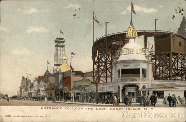 Entrance to Loop the Loop Coney Island New York Amusement Parks