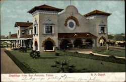Greetings from San Antonio-- S. P. Depot Postcard