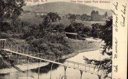 View from Island Park Entrance Postcard