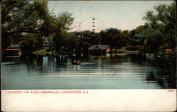 Canoeing on Lake Carasaljo, Lakewood, N.J