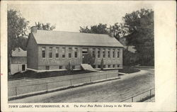 Town Library, Peterborough, N. H. The First Free Public Library in the World