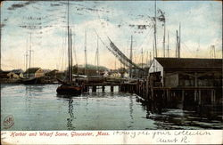 Harbor and Wharf Scene
