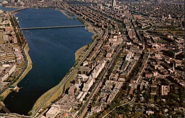 Air View of Charles River Basin Boston Massachusetts