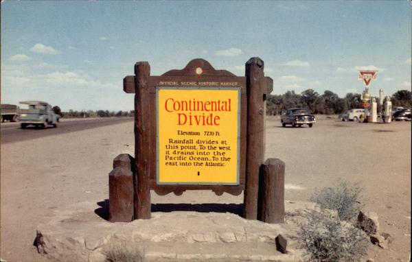 Continental Divide Historic Marker New Mexico