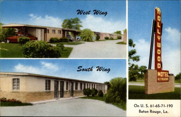 West Wing and South Wing of Hollywood Motel Baton Rouge Louisiana