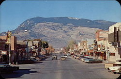 View of Main Street and Rattlesnake Mountain