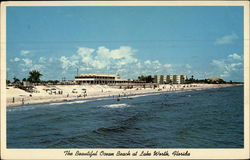 The Beautiful Ocean Beach at Lake Worth, Florida