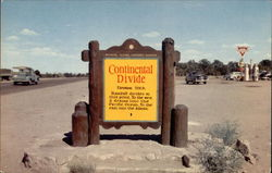 Continental Divide Historic Marker