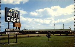 4 Way Motel and Restaurant Postcard