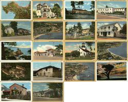 Large Lot of 1800 Unused Vintage Monterey-area Postcards Wholesale Postcard