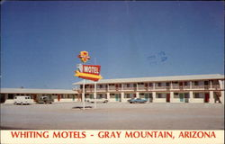 Whiting Motels exterior with clear very blue sky